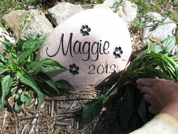 Maggie's Memorial stone